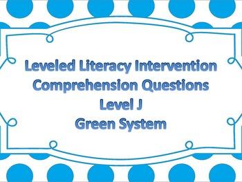 LLI Multiple Choice Comprehension Assessment Level J Green System