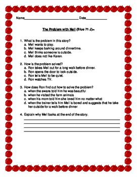 Leveled Literacy Intervention Comprehension: Blue Lessons 71-80