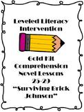 Leveled Literacy Intervention Comprehension Novel Surviving Brick Johnson