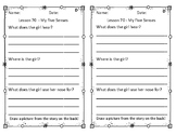 Differentiated LLI Comprehension Questions GREEN Lessons 70-80