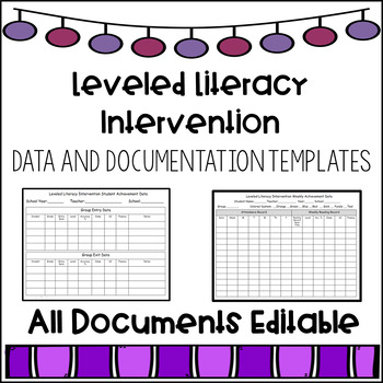 Leveled Literacy Intervention Data and Documentation