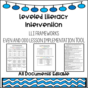 Leveled Literacy Intervention Frameworks and Implementation Tool