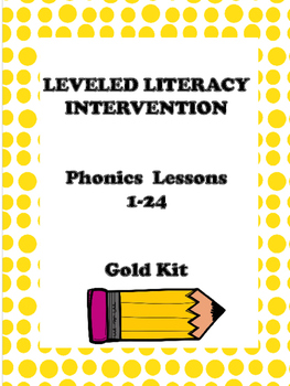 Leveled Literacy Intervention Gold Kit Phonics
