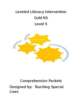 Leveled Literacy Intervention-Gold S with 72 comprehension pages
