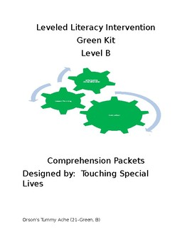 Leveled Literacy Intervention-Green Level B & 5 comprehension pgs