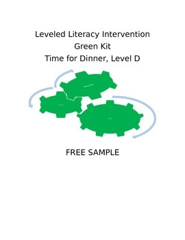 Leveled Literacy Intervention-Green Level D FREE SAMPLE