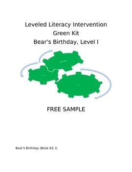 Leveled Literacy Intervention-Green Level I FREE SAMPLE
