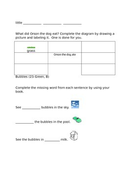 Leveled Literacy Intervention-Green Levels A, B, C, D, E- 52 comprehension pgs