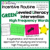 Leveled Literacy Intervention GREEN: High Frequency Words