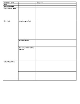 Leveled Literacy Intervention (LLI) Aligned Lesson Plan Template -- Odd Days