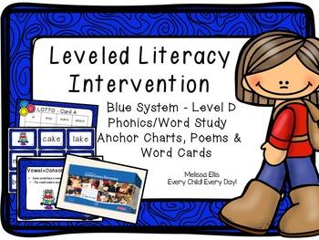 Leveled Literacy Intervention (LLI): Blue Level D: Anchor