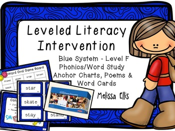 Leveled Literacy Intervention (LLI): Blue Level F: Anchor Charts & Word Cards