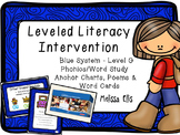 Leveled Literacy Intervention (LLI): Blue Level G: Anchor Charts & Word Cards