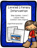 Leveled Literacy Intervention (LLI):  Blue Level I Lesson Plan Templates