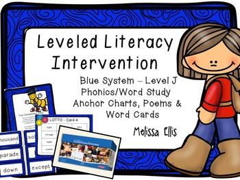 Leveled Literacy Intervention (LLI): Blue Level J: Anchor Charts & Word Cards