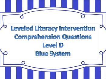 LLI Comprehension Multiple Choice Assessment Level D Blue