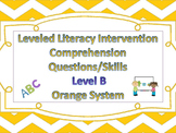 LLI Multiple Choice Short Answer Comprehension Skills Assessment Level B Orange