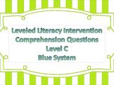 LLI Multiple Choice Short Answer Comprehension Skills Assessment Level C Blue