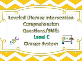 LLI Multiple Choice Short Answer Comprehension Skills Assessment Level C Orange