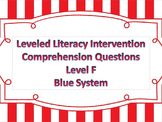 LLI Multiple Choice Short Answer Comprehension Skills Assessment Level F Blue