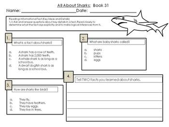 LLI Multiple Choice Short Answer Comprehension Skills Assessment Level F Blue