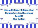 LLI Multiple Choice Short Answer Comprehension Skills Assessment Level G Blue