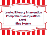 LLI Multiple Choice Short Answer Comprehension Skills Assessment Level I Blue