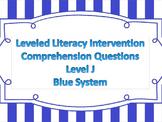 LLI Multiple Choice Short Answer Comprehension Skills Assessment Level J Blue