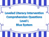 LLI Multiple Choice Short Answer Comprehension Skills Assessment Level L Blue