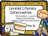 Leveled Literacy Intervention (LLI): Gold Level Q: Anchor Charts and Word Cards