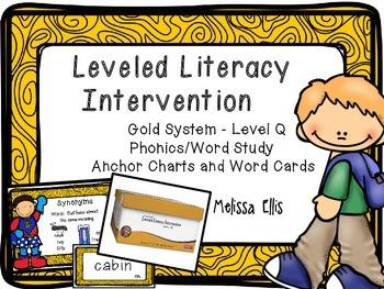 Leveled Literacy Intervention (LLI): Gold Level Q: Anchor