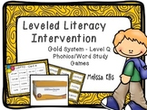 Leveled Literacy Intervention (LLI): Gold Level Q: Student Games