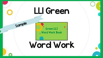 Leveled Literacy Intervention (LLI) Green System Lesson 33- SAMPLE