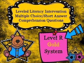 Leveled Literacy Intervention LLI Multiple Choice Short Answer Level R Gold