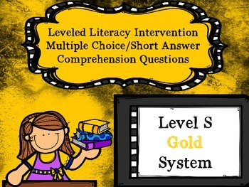 Leveled Literacy Intervention LLI Multiple Choice Short An