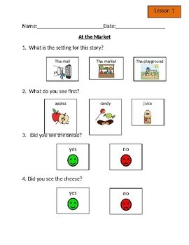 Leveled Literacy Intervention (LLI) Orange Comprehension Questions
