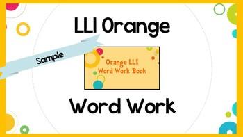 Leveled Literacy Intervention (LLI) Orange System Lesson 29 Word Work- SAMPLE