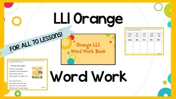 Leveled Literacy Intervention (LLI) Orange System Phonics/Word Work