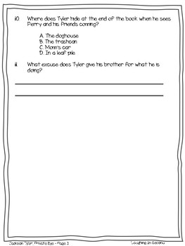 Leveled Literacy Intervention (LLI Red)Comprehension Questions (51 - 56 + Novel)