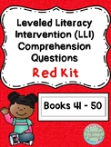 Leveled Literacy Intervention (LLI Red) Comprehension Questions (Lessons 41-50)