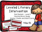 Leveled Literacy Intervention (LLI):  Red Level P: Anchor