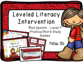 Leveled Literacy Intervention (LLI): Red Level P: Student Games
