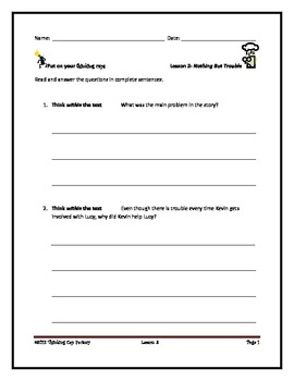 LLI Red System Comprehension Questions for Lessons 1-12
