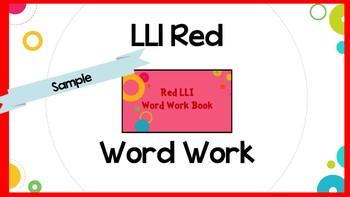 Leveled Literacy Intervention (LLI) Red System Work Work Lesson 1- SAMPLE