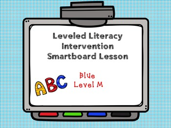 Leveled Literacy Intervention LLI Smartboard Activities Blue Level M