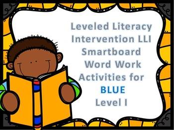 Leveled Literacy Intervention LLI Smartboard Activities Blue Level I 1st Edition