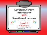 Leveled Literacy Intervention LLI Smartboard Red Level N Vol.2 Lessons 77-88