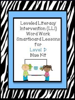 Leveled Literacy Intervention LLI Smartboard Activities Blue Level D 1st Edition