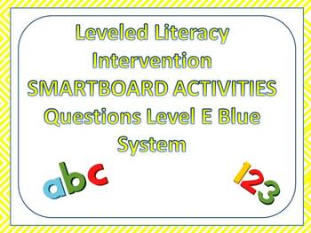 Leveled Literacy Intervention LLI Smartboard Activities Blue Level E 1st Edition
