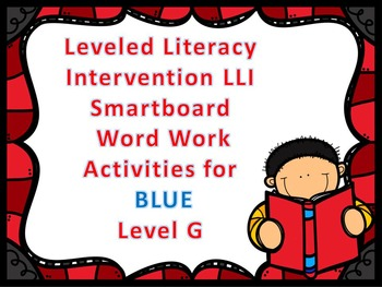 Leveled Literacy Intervention LLI Smartboard Activities Bl